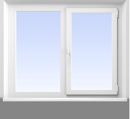 Двухстворчатое окно в квартире 137 серии