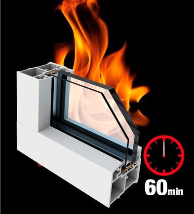 противопожарное окно E60